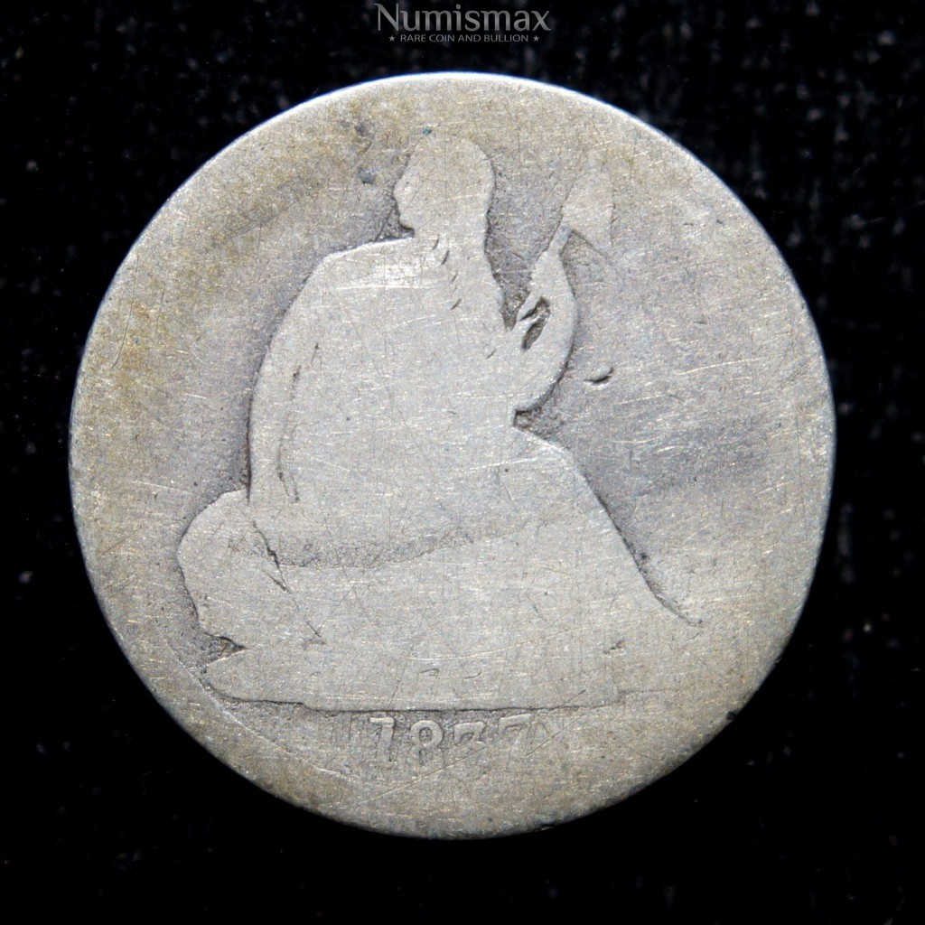 1837 Seated Liberty Dime Large Date 30 Degree Rotated Reverse