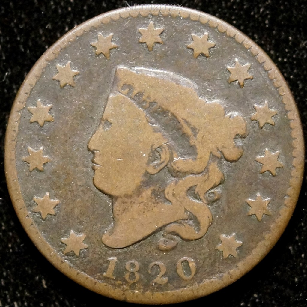 1820 Large Cent, Small Date
