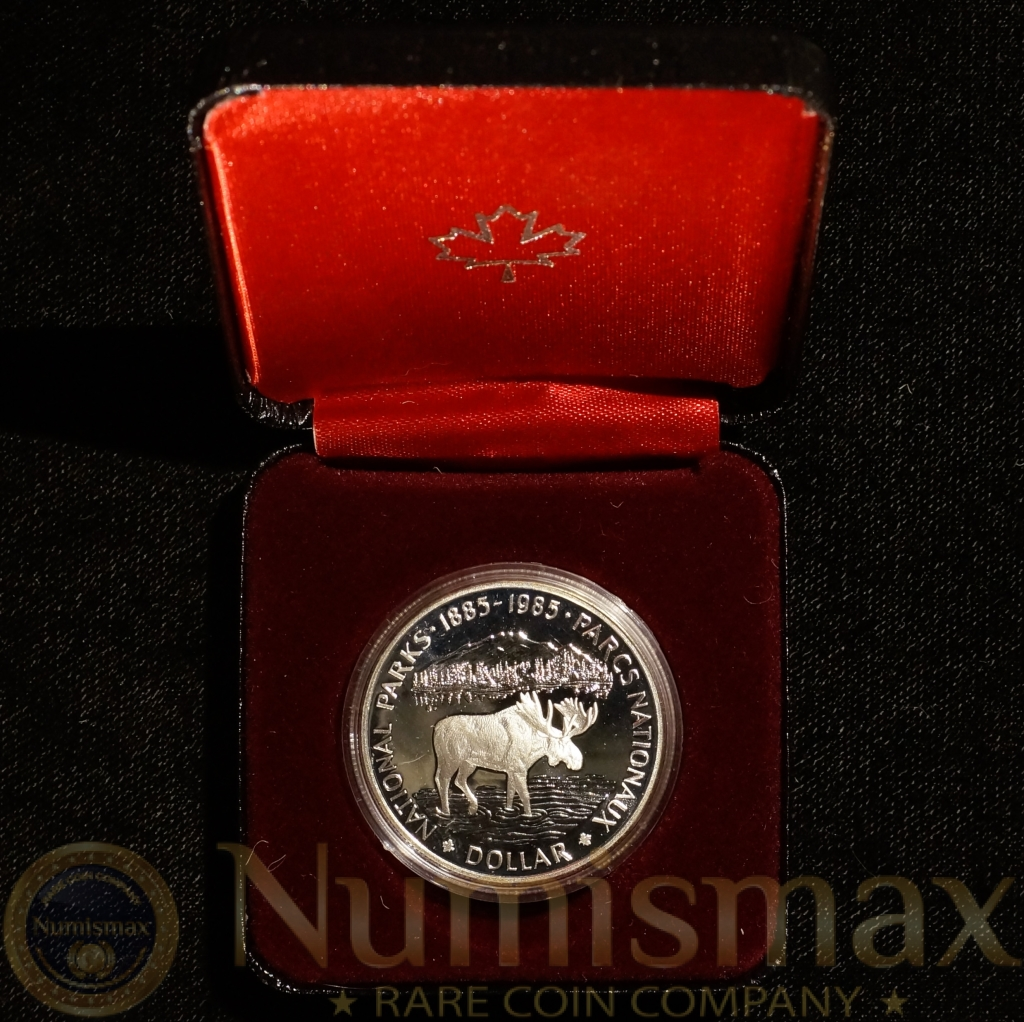 1985 Canada National Parks Dollar Silver W/Box