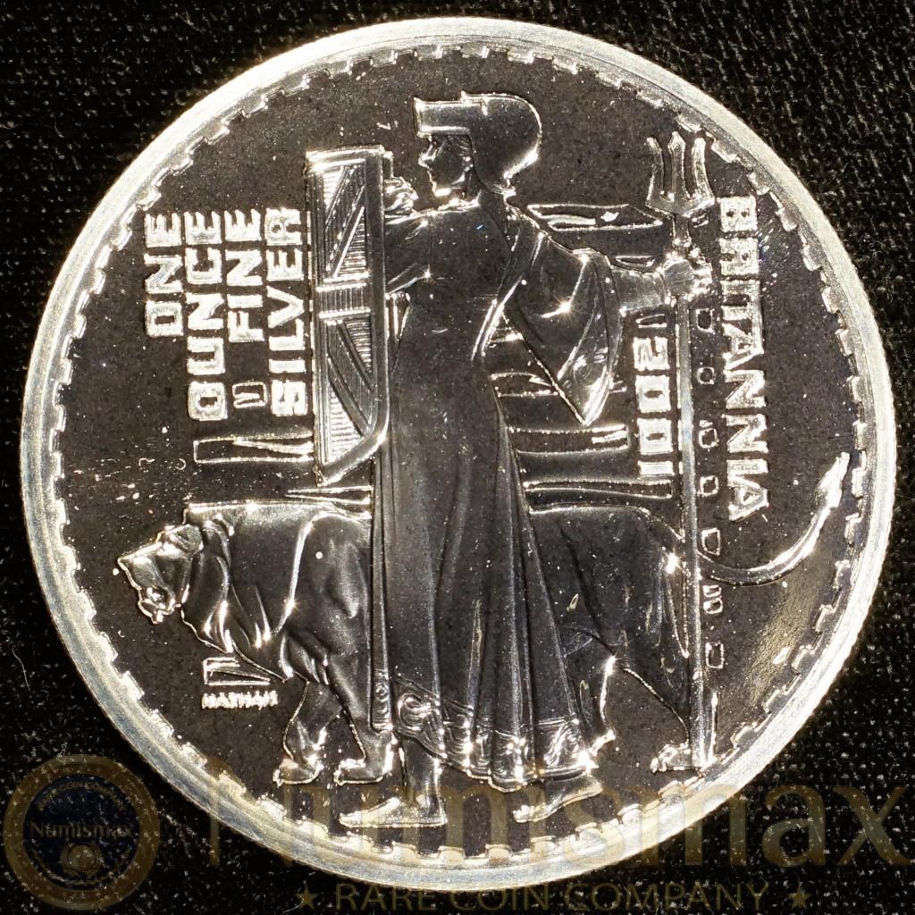 2001 Great Britain Silver Britannia £2 Pound Coin