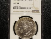 1878 Philadelphia Morgan Dollar 7TF Rev. of 79 NGC AU58