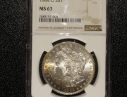 1884 New Orleans Morgan Silver Dollar | NGC MS63