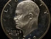 1972 San Francisco Eisenhower Proof Silver Dollar | Type 2