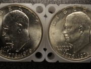 1976 Philadelphia and Denver Eisenhower Dollar Rolls | 2-Roll Lot