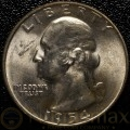 1954 Denver Washington Silver Quarter