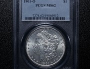 1901 New Orleans Morgan Silver Dollar | PCGS MS62