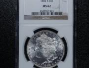 1882 San Francisco Morgan Silver Dollar   NGC MS62