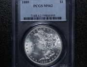 1889 Philadelphia Morgan Silver Dollar   PCGS MS62