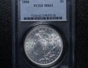 1896 Philadelphia Morgan Silver Dollar   PCGS MS62