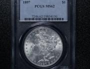 1897 Philadelphia Morgan Silver Dollar   PCGS MS62