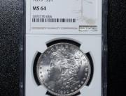 1899 Philadelphia Morgan Silver Dollar   NGC MS64