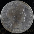 1909 New Orleans Silver Barber Half Dollar