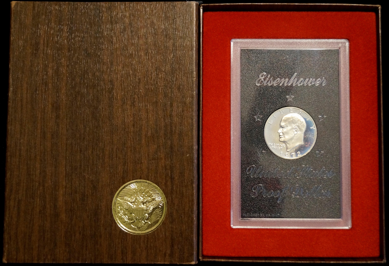 1972 S Eisenhower Dollar Brown Box Proof