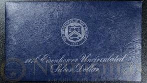 1974 San Francisco Eisenhower Silver Dollar | Blue Envelope